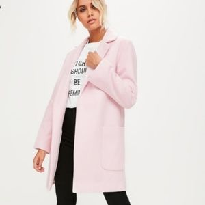 Missguided Pale Pink Coat Size 0